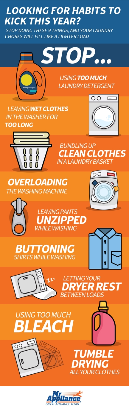 Infographic: Break Your Bad Laundry Habits