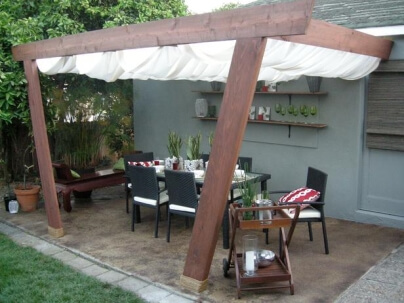 Outdoor Canopy in Yard