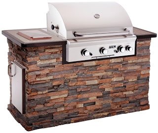 Pre-Made Brick Grill Structure