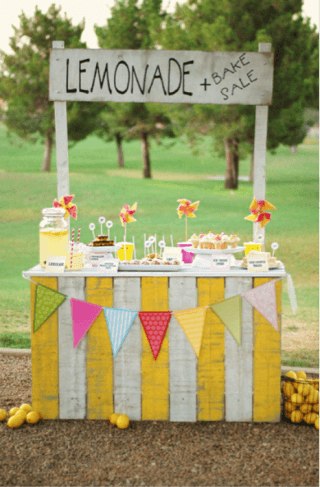 Summer Lemonade Stand in Park