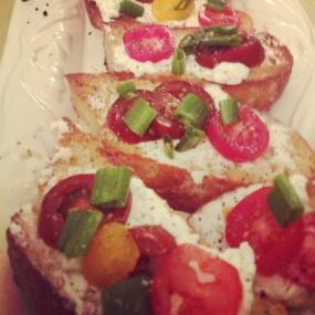 Lillyan's Whipped Goat Cheese with Heirloom Tomatoes