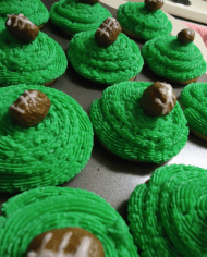 Green Football Fun Cupcakes