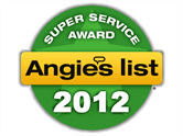 Super Service Award Angie's list 2012