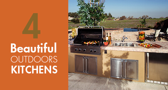 4 Beautiful Outdoor Kitchens